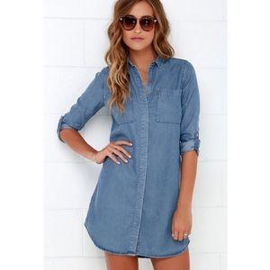 Lulu's Denim Button Down Tunic Dress